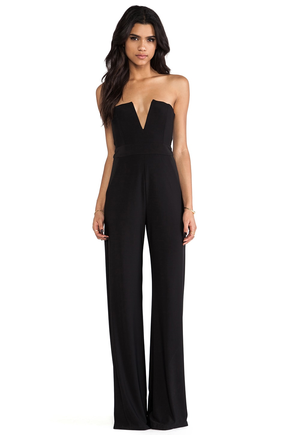 Nookie Dolce Vita V-Front Jumpsuit in Black
