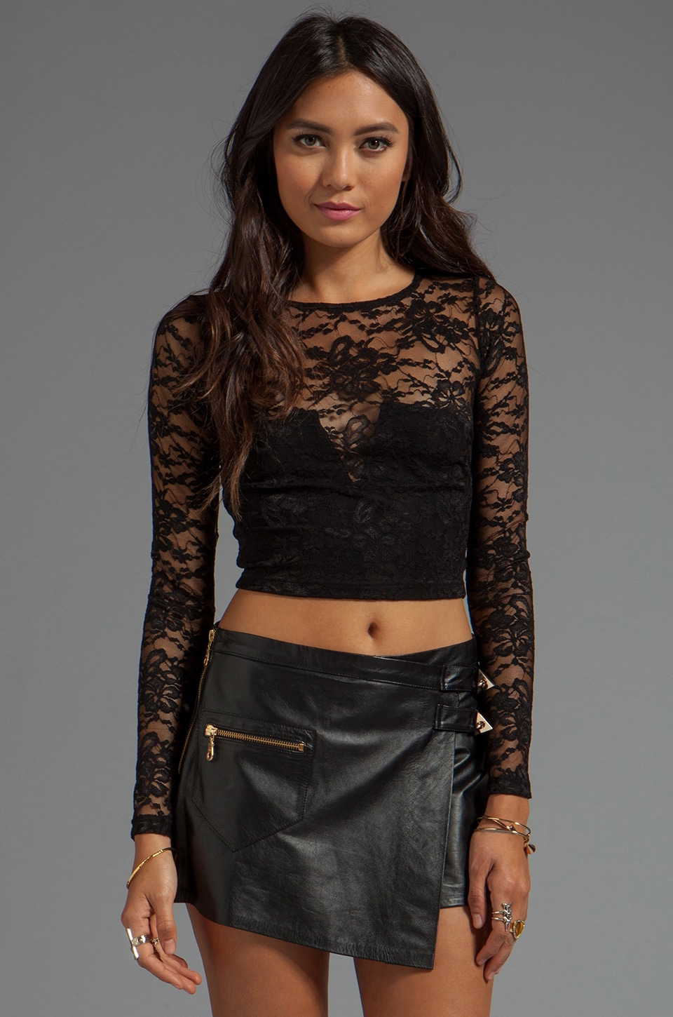 Nookie Teen Spirit Crop Top in Black