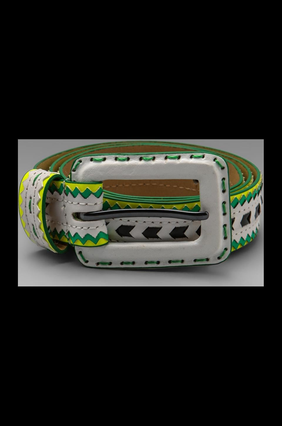 Nanette Lepore Runway Tribal Woven Belt in White Multi
