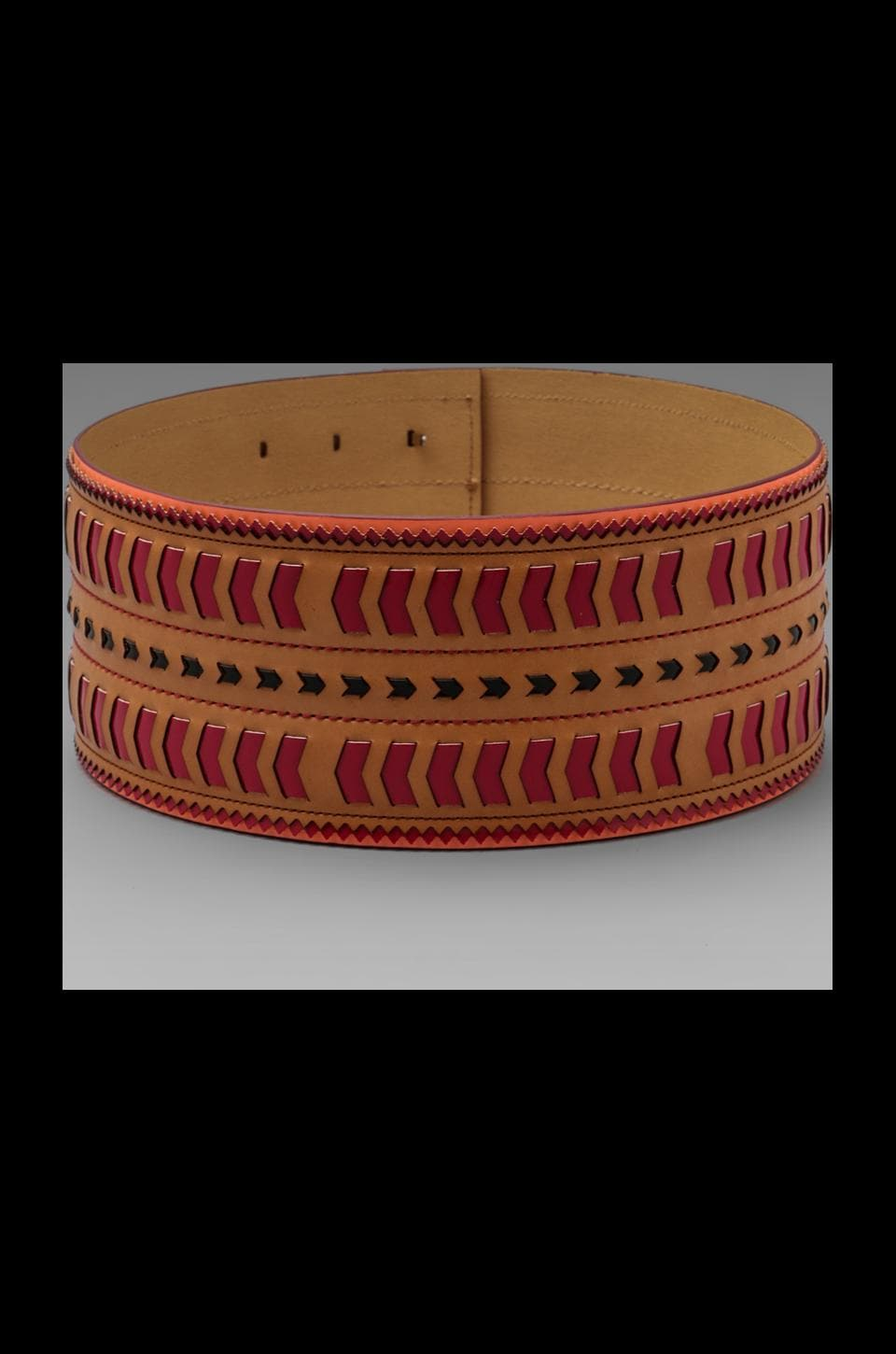 Nanette Lepore Tribal Woven Waist Belt in Vachetta