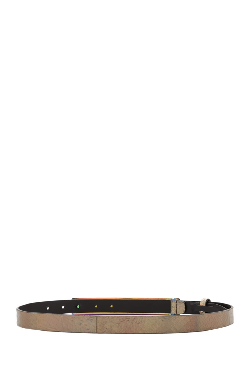 "Nanette Lepore Hologram 3/4"" Band Belt in Emerald"