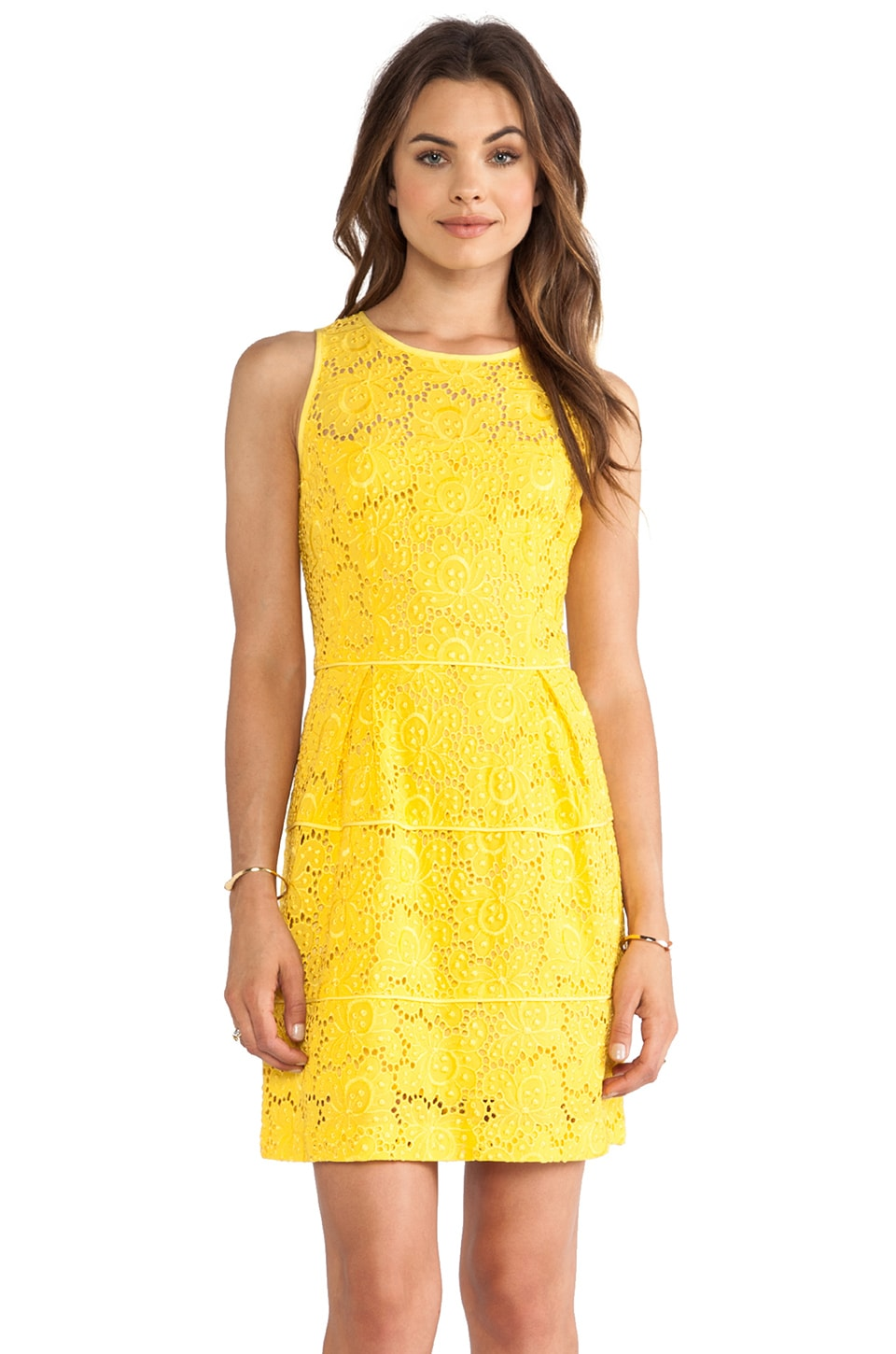 Nanette Lepore Sierra Madre Lace Treasure Dress in Sunshine