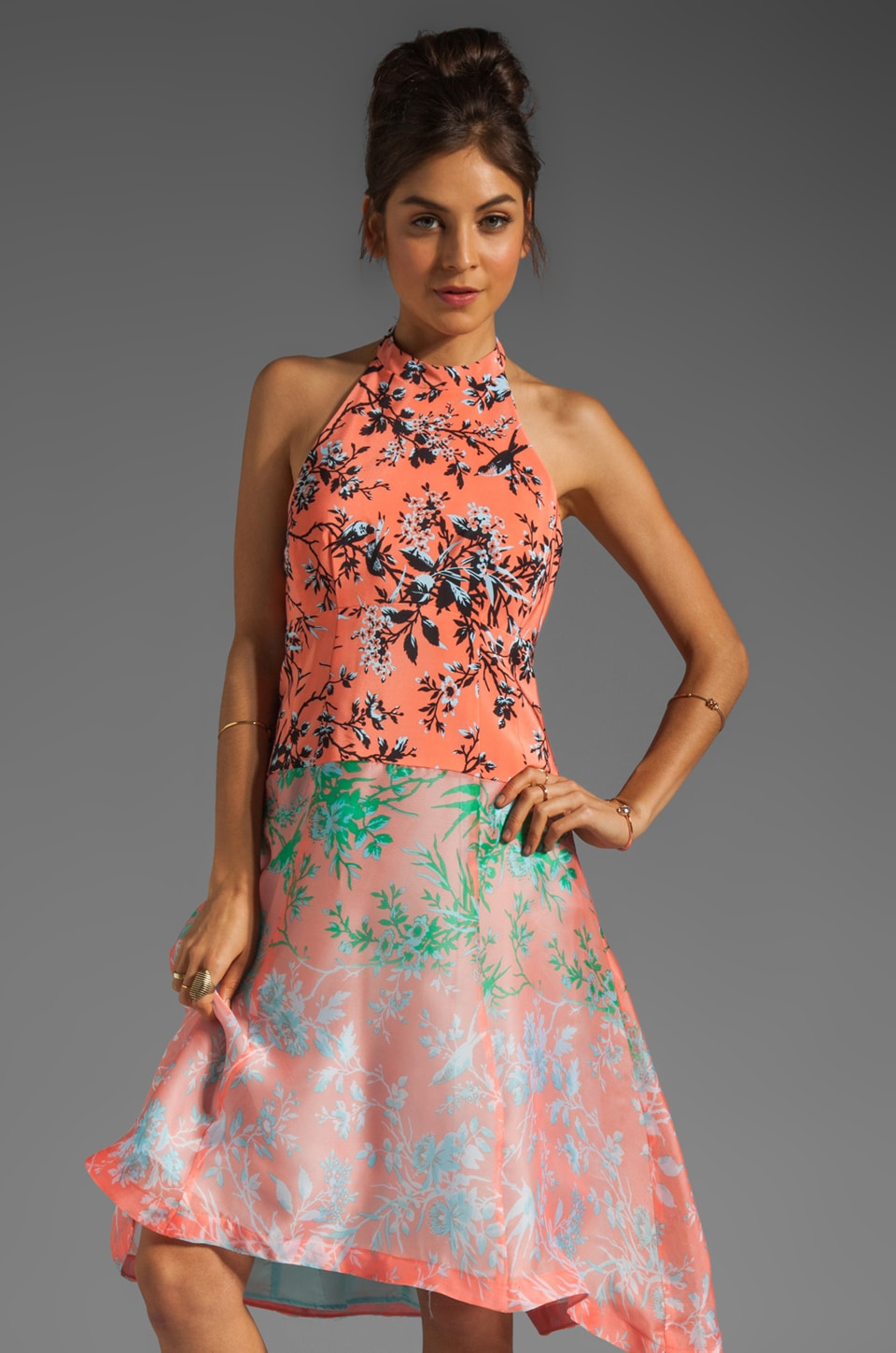 Nanette Lepore RUNWAY Sound Art Dress in Coral
