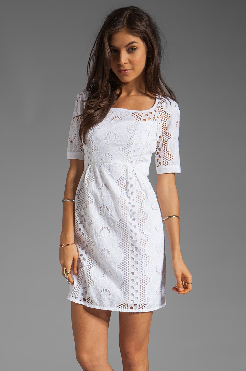 Nanette Lepore Sandy Beach Dress in White