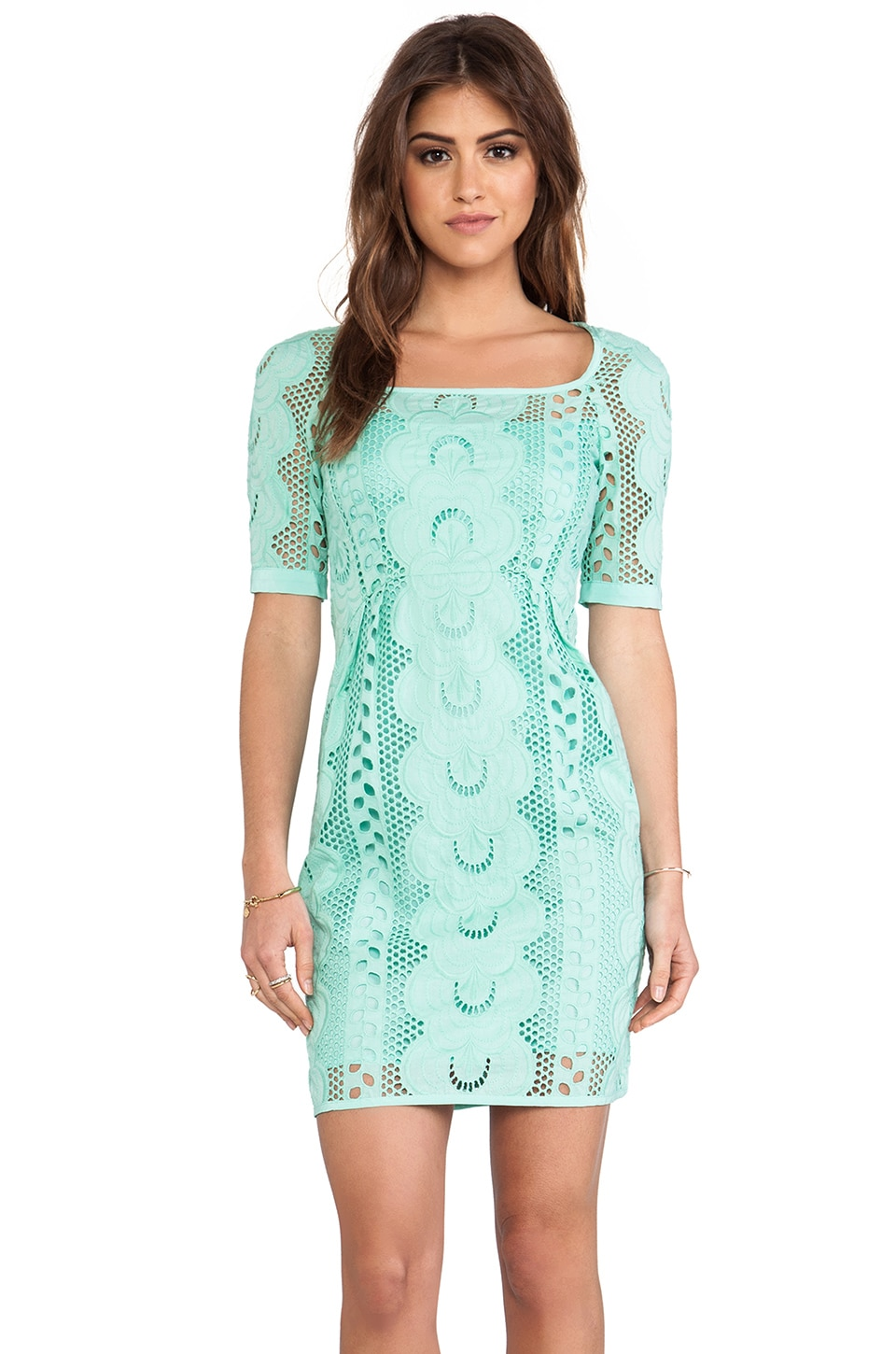 Nanette Lepore Sandy Beach Dress in Mint
