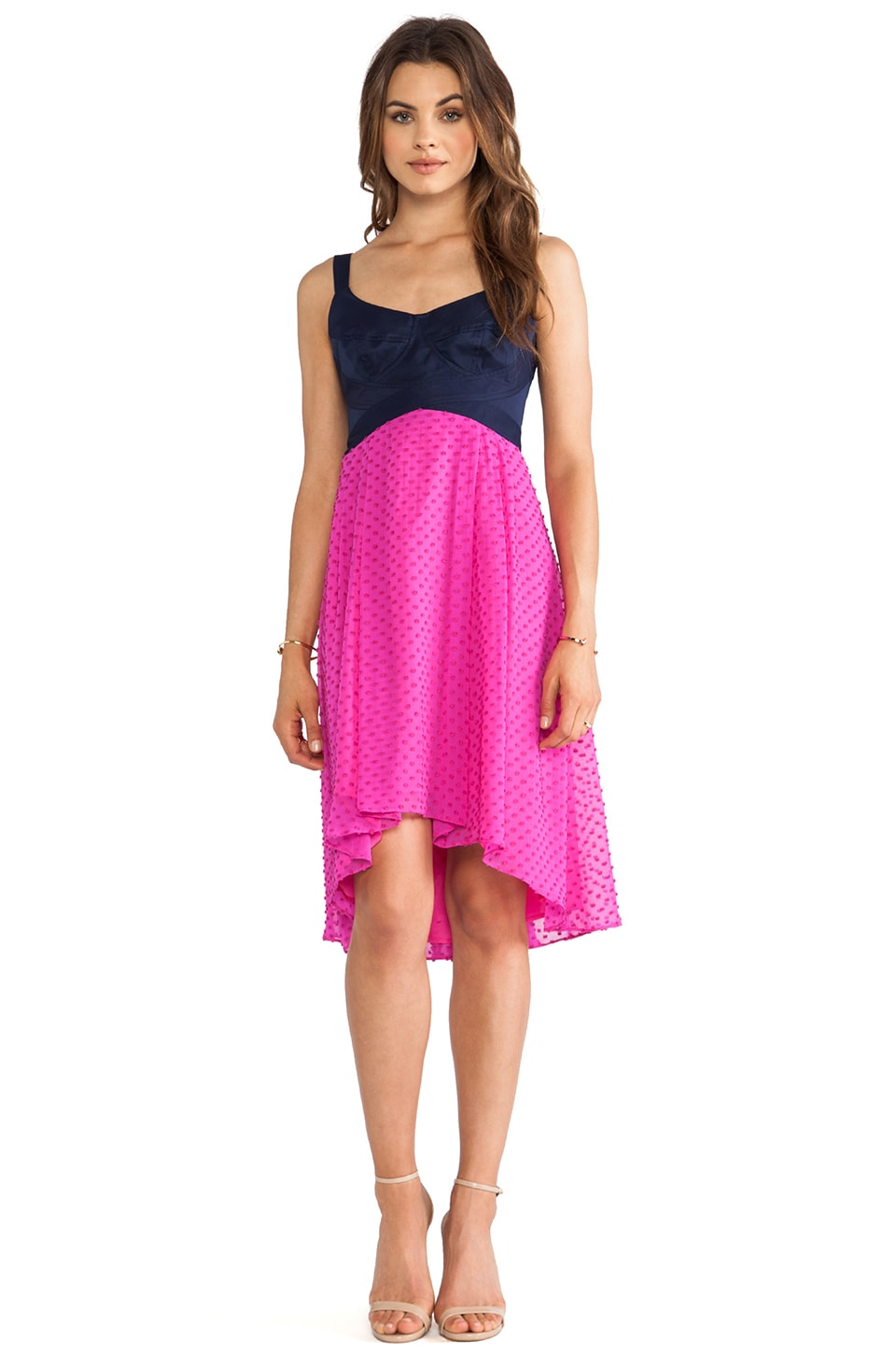 Nanette Lepore Mermaid Dress in Bubblegum & Indigo