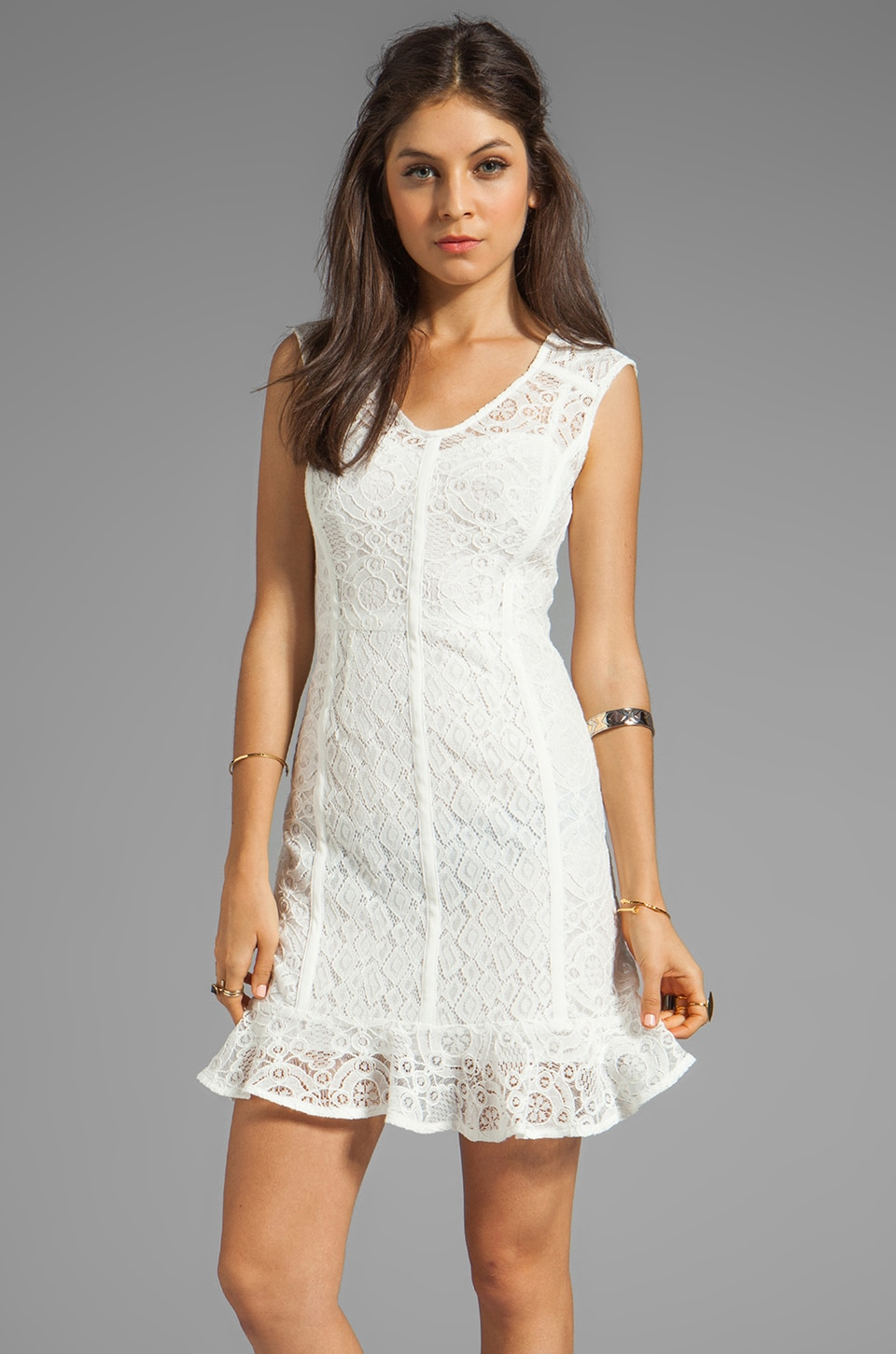 Nanette Lepore La Roca Dress in White