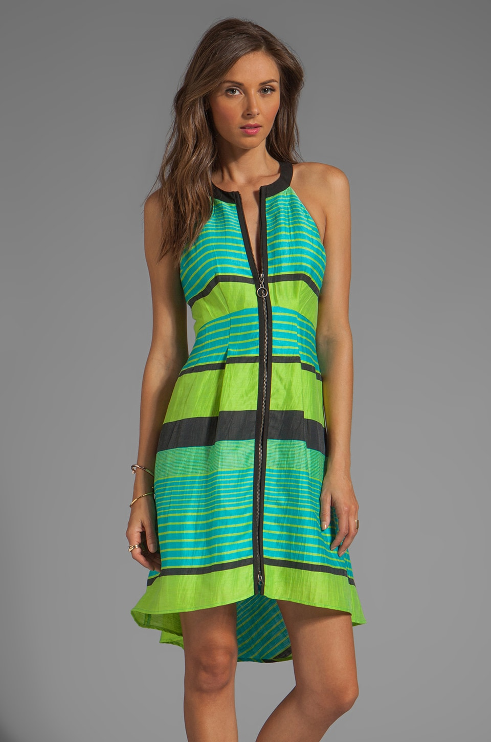 Nanette Lepore Bogatell Dress in Kiwi Multi