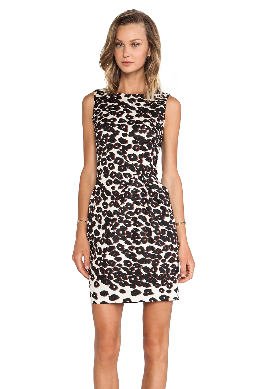 Nanette Lepore Amazon Print Cheetah Dress in Ivory