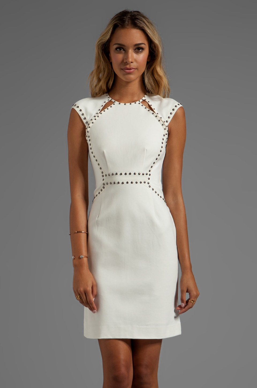 Nanette Lepore Sparkle Studs Trampoline Dress in Ivory