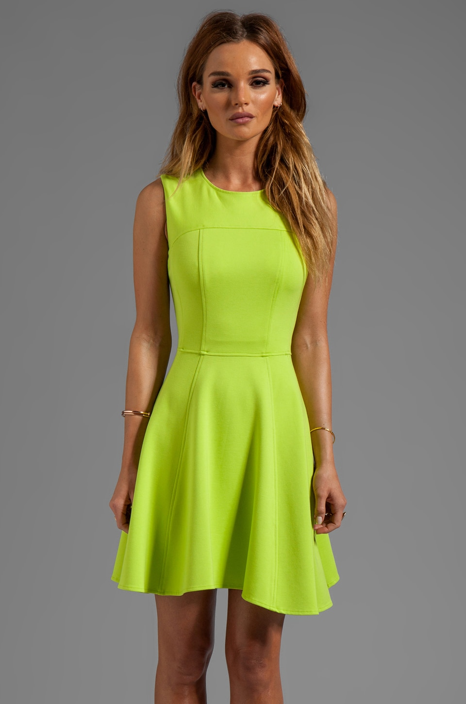 Nanette Lepore Superslide Ponte Dress in Lime