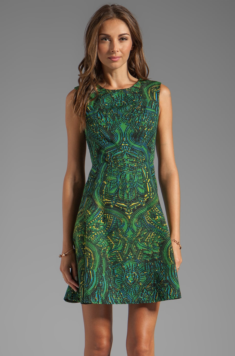 Nanette Lepore Mystical Print Sensual Dress in Elm Multi