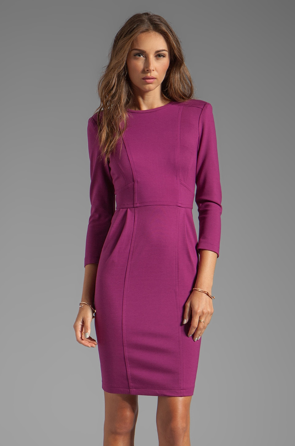 Nanette Lepore Rabat Ponte Dress in Orchid