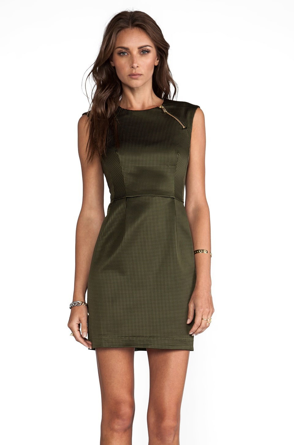Nanette Lepore Runway Martian Woven Dress in Olive