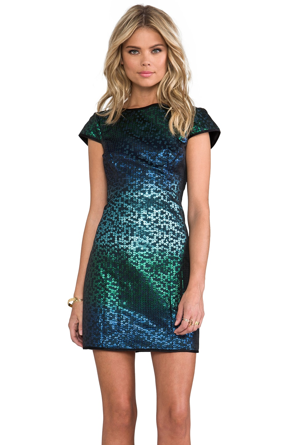 Nanette Lepore Cabaret Dress in Turquoise Mix