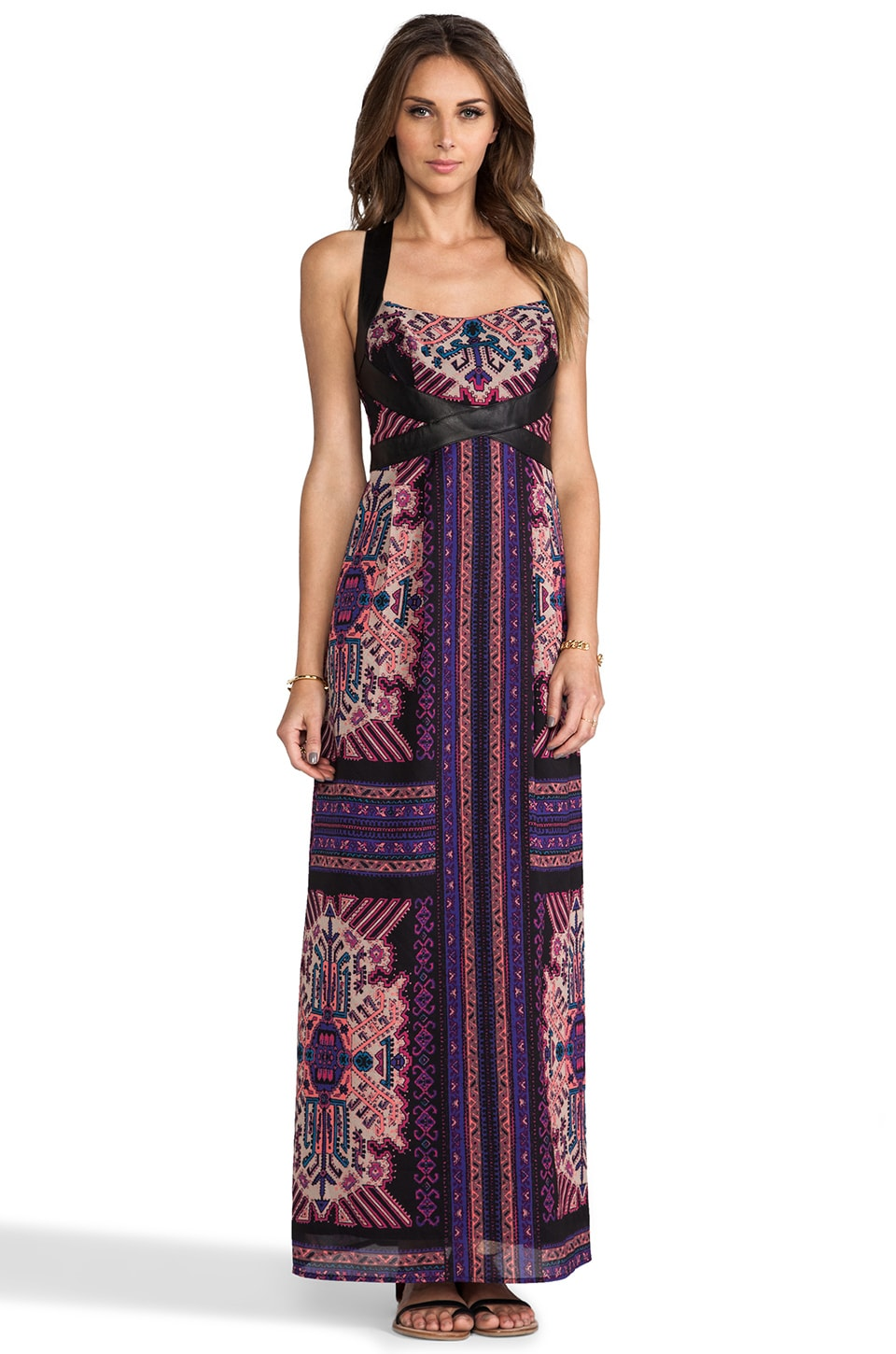 Nanette Lepore Sun Dance Dress in Black Multi