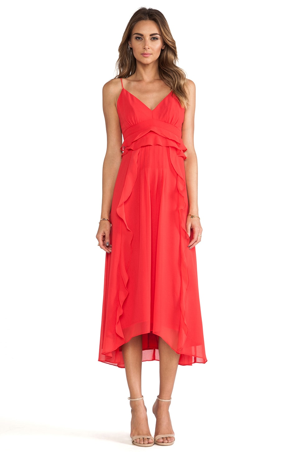 Nanette Lepore Dreamer Dress in Poppy Red