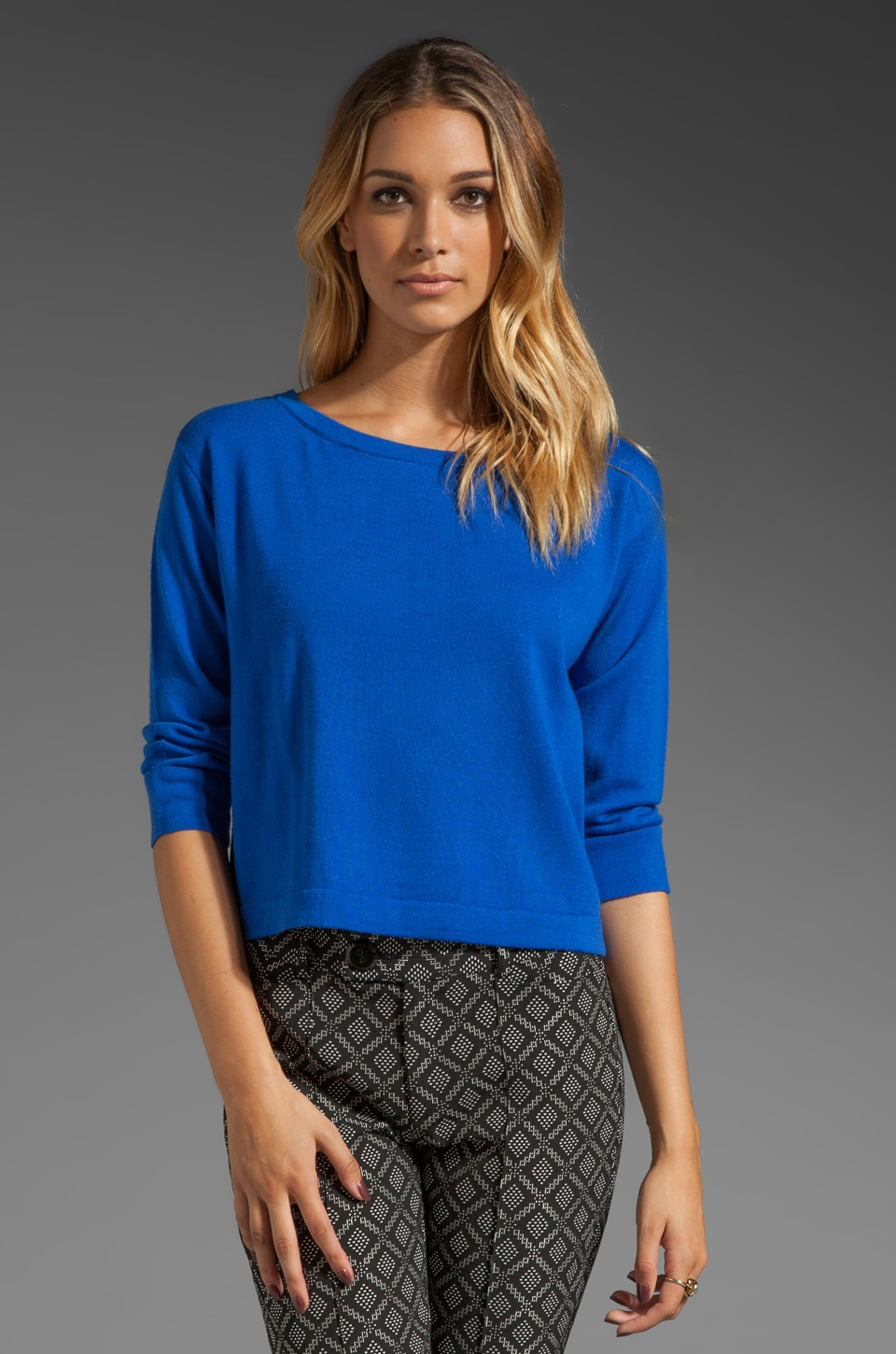 Nanette Lepore King Curtis Knit Pullover in Cobalt