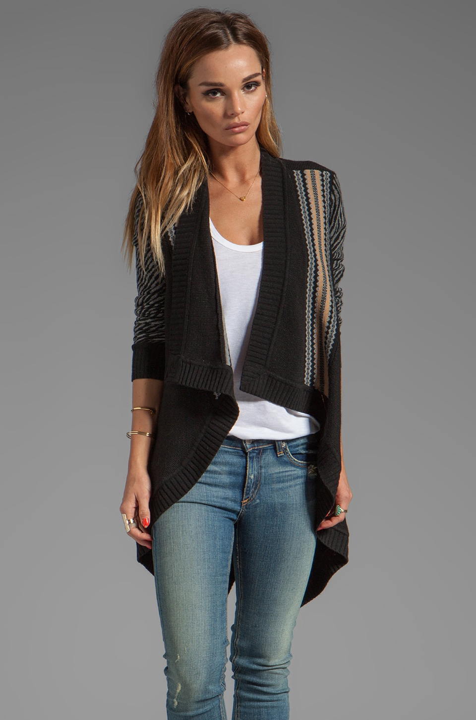 Nanette Lepore Meknes Knit Marvelous Cardigan in Black Multi