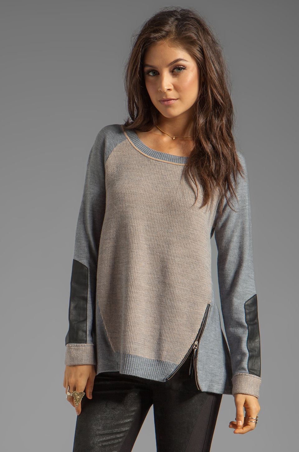 Nanette Lepore Medina Knit Taza Sweater in Pebble/Camel