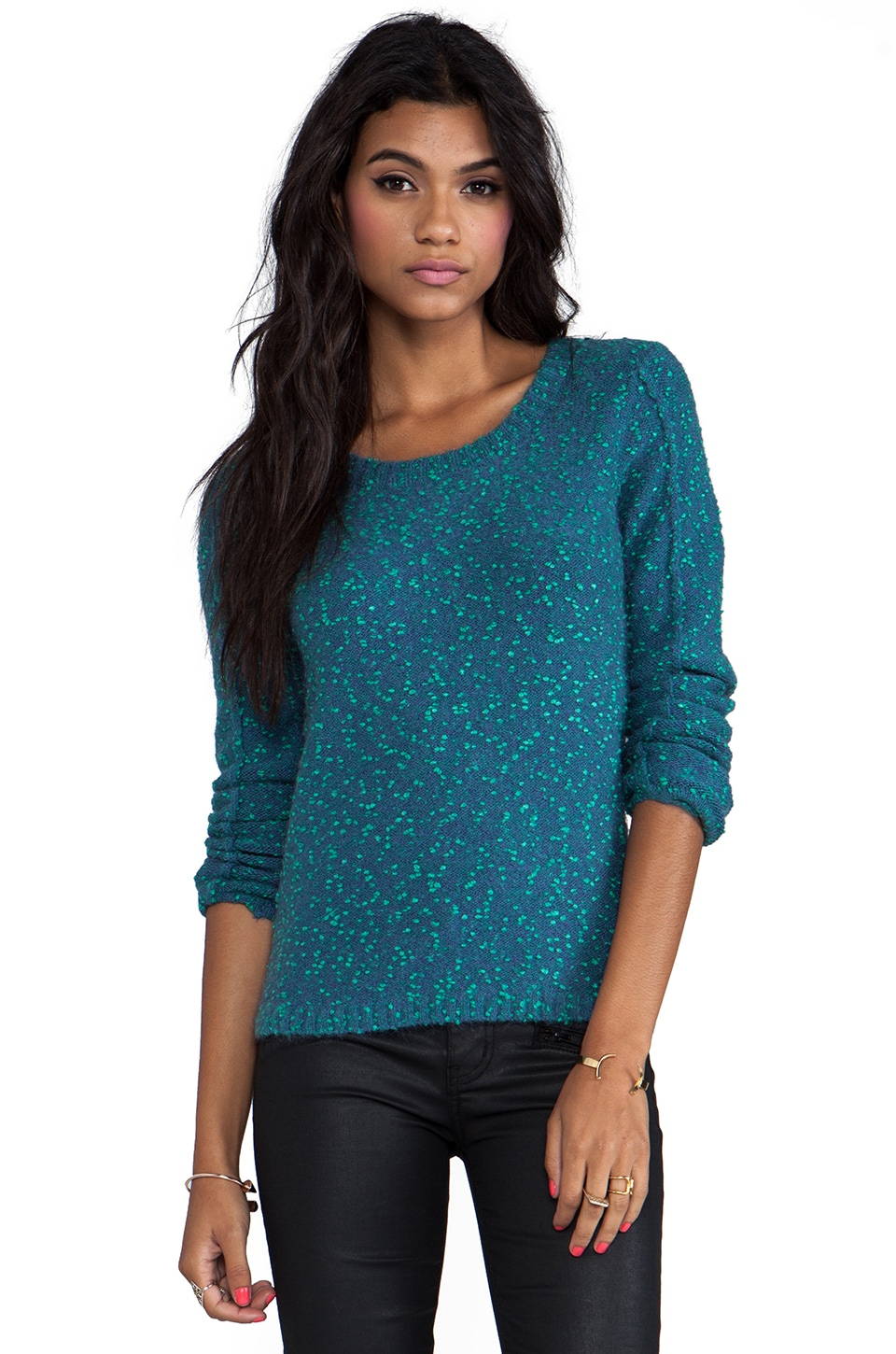 Nanette Lepore Ozone Knits Big Dipper Sweater in Steel Blue