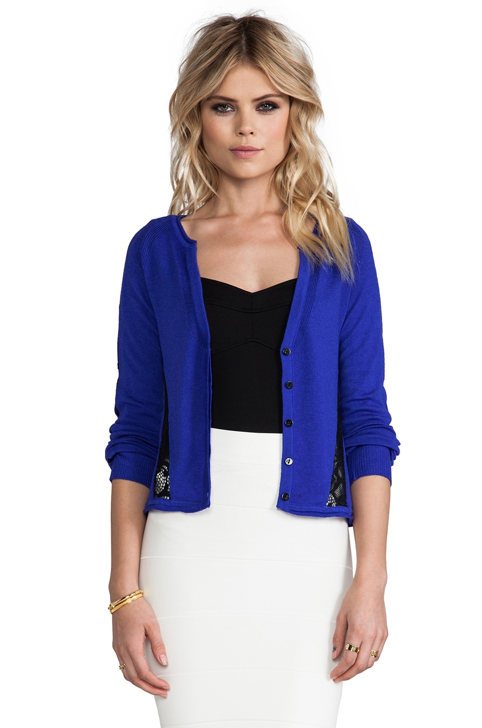 Nanette Lepore Patio Cardigan in Royal Blue