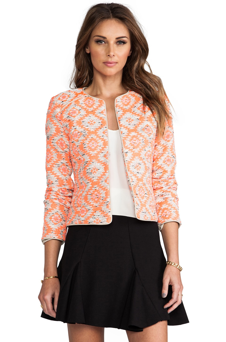 Nanette Lepore Great Plains Jacket in Coral