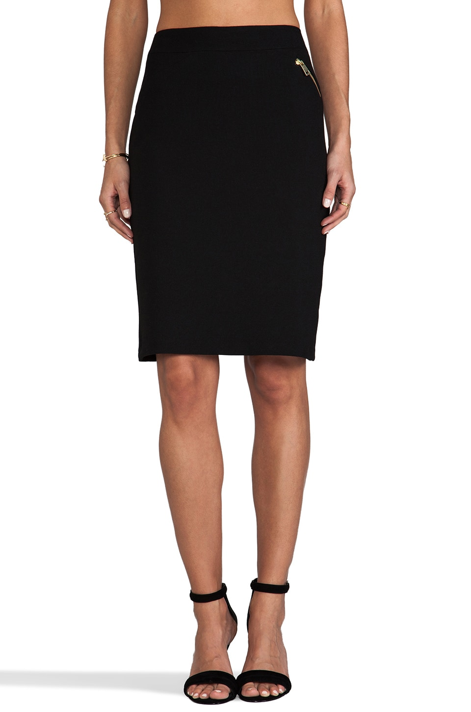 Nanette Lepore Ultra Ray Crepe Gamma Skirt in Black