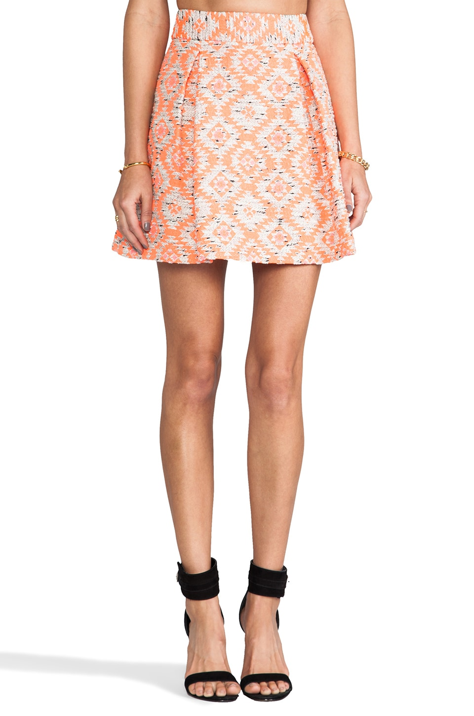 Nanette Lepore Wildcat Skirt in Coral