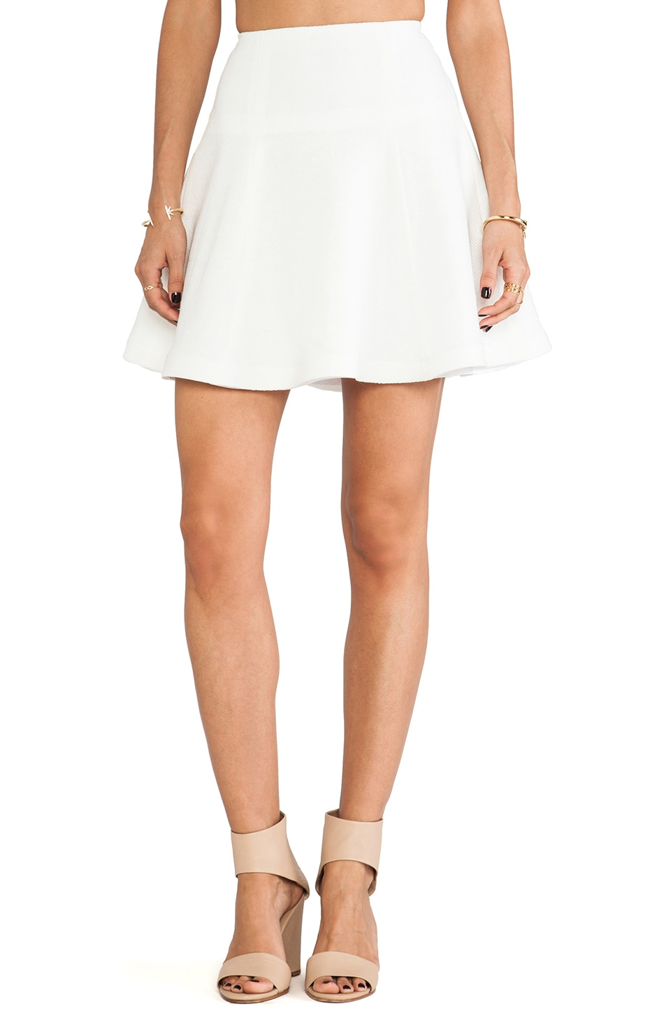 Nanette Lepore Smitten Skirt in White