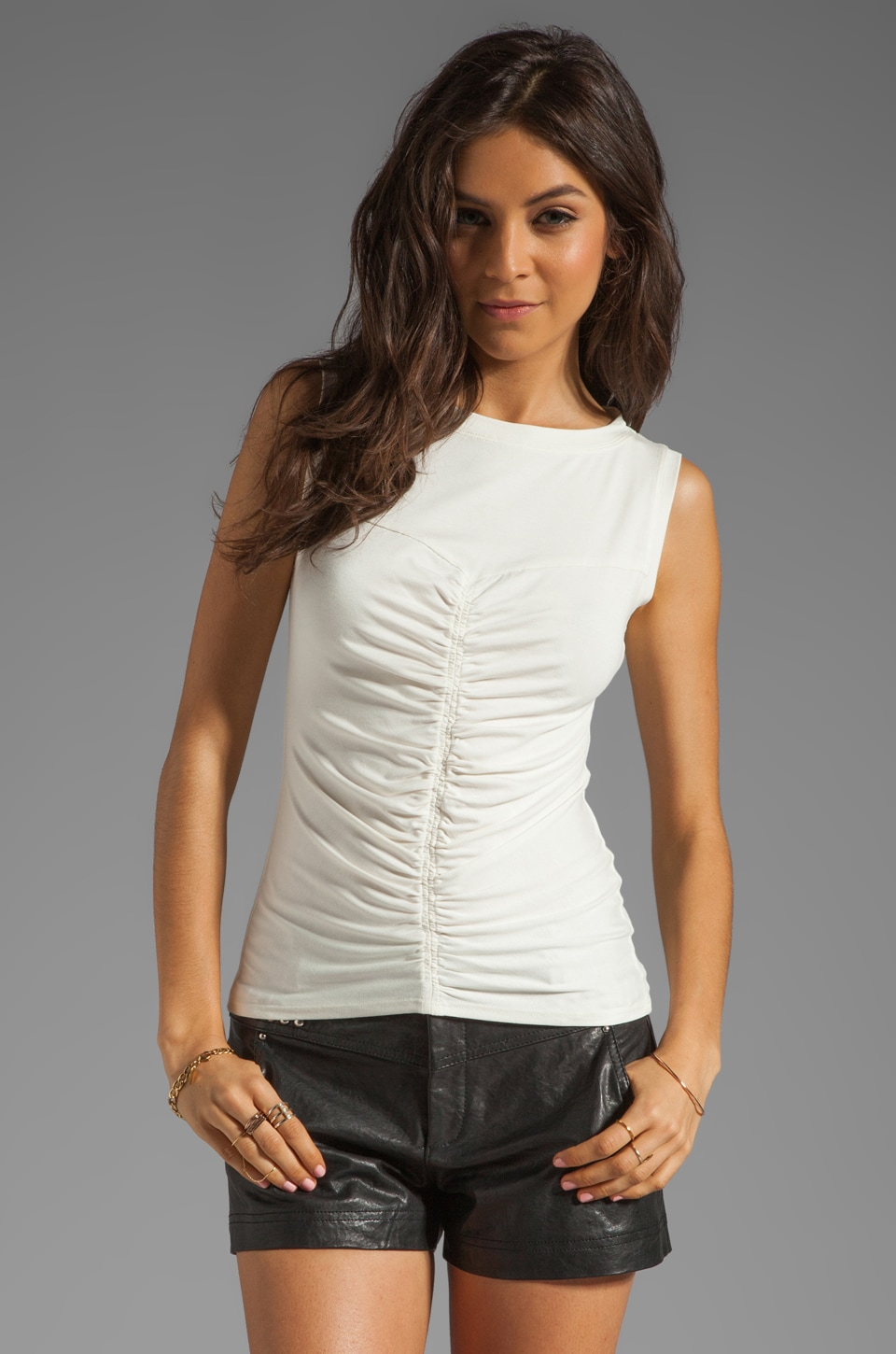Nanette Lepore Arena Jersey Top in Ivory