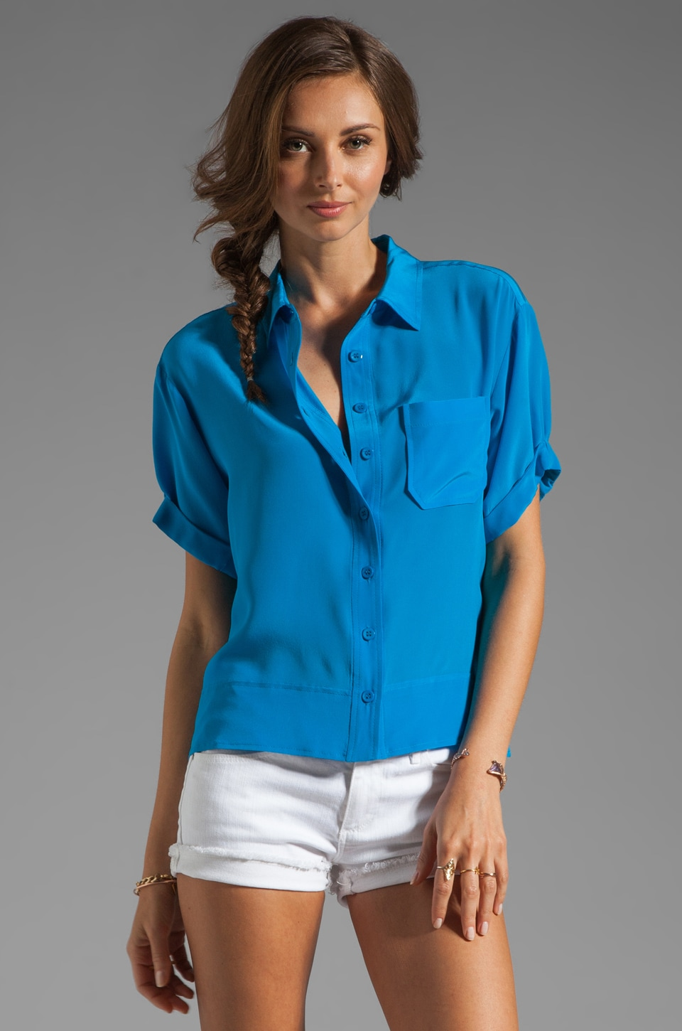 Nanette Lepore Twister Top in Blue Sky
