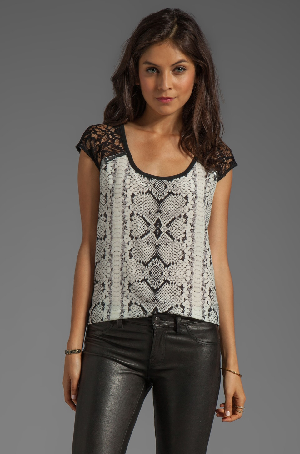 Nanette Lepore Party Time Print Festival Top in Ivory Multi