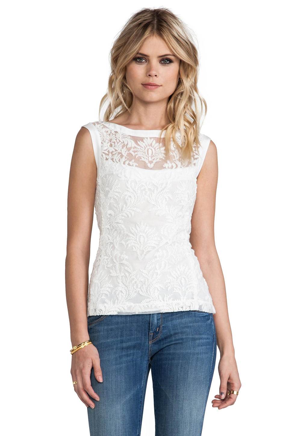 Nanette Lepore Be Happy Top in White