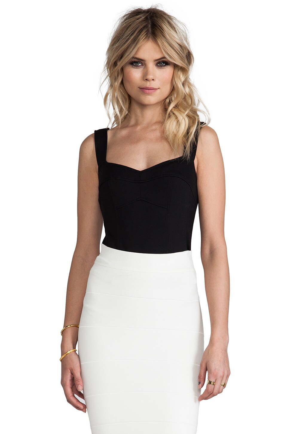 Nanette Lepore Billboard Bustier in Black