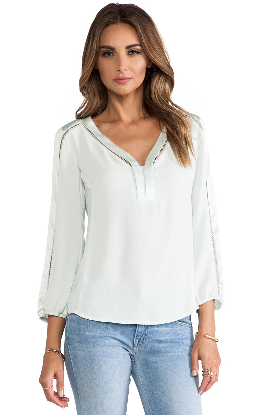 Nanette Lepore Luau Blouse in Mint