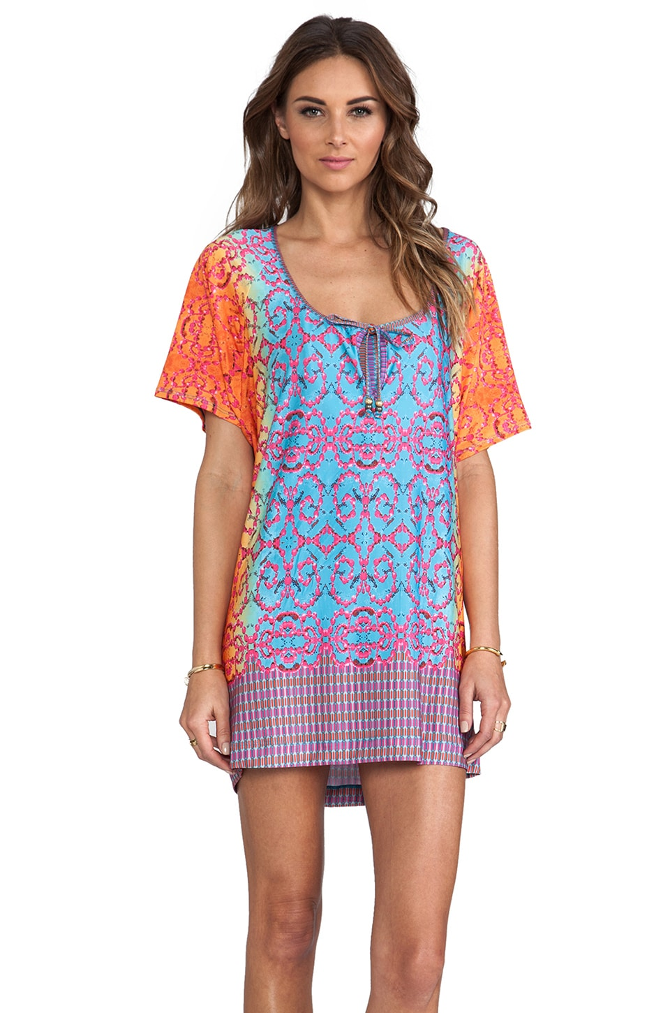 Nanette Lepore Short Sleeve Jersey Tunic in Multi