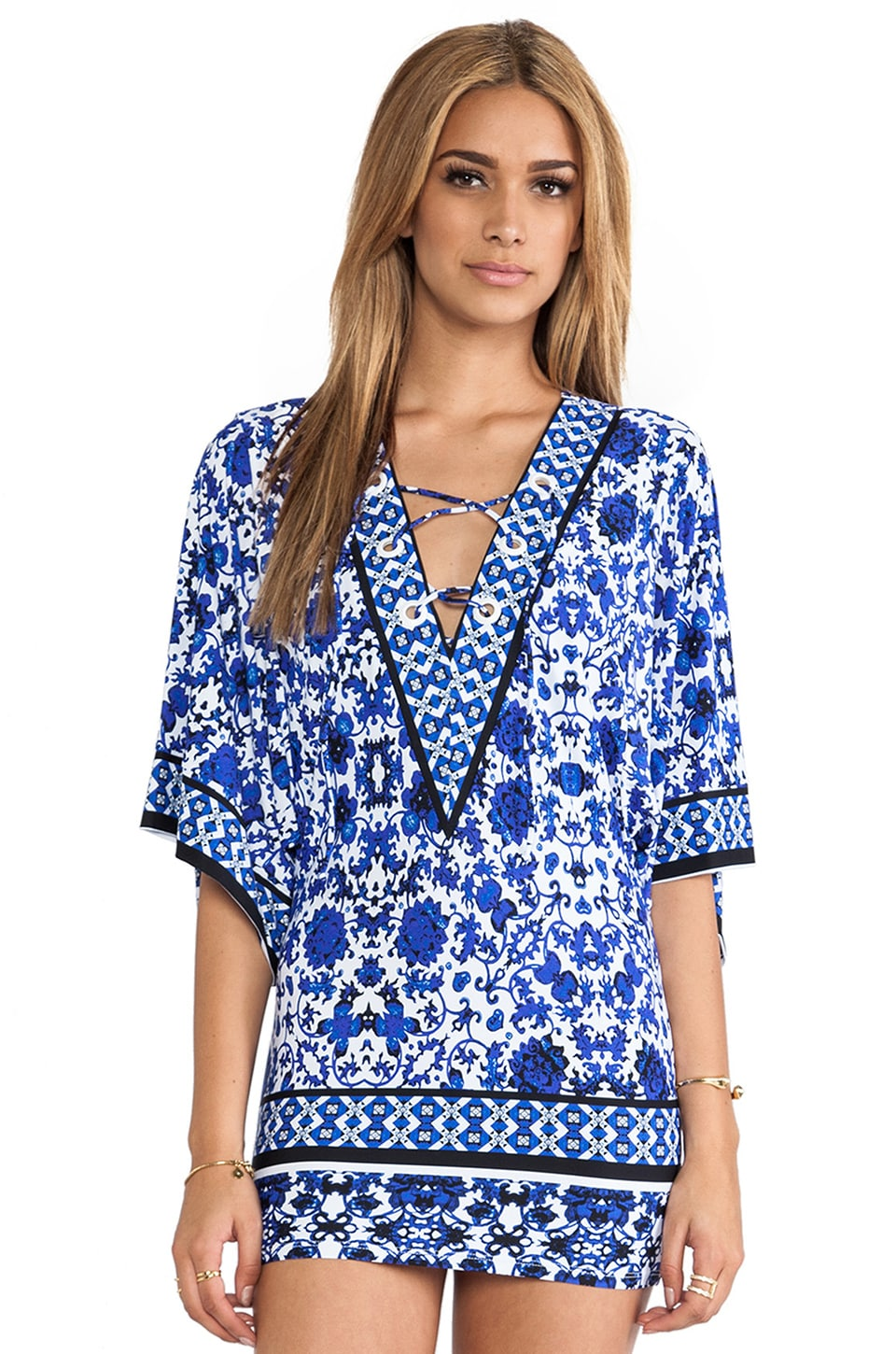 Nanette Lepore Saint Etienne Tunic Cover Up in Navy
