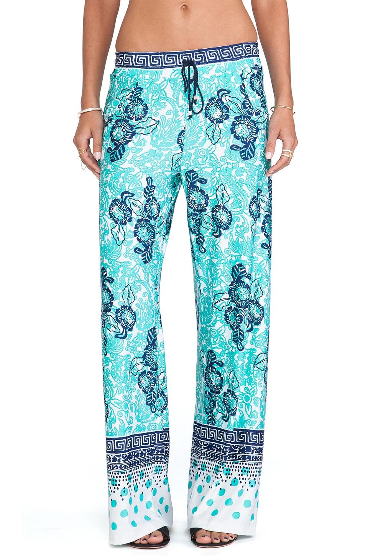 Nanette Lepore Batiki Print Beach Pants in Aqua