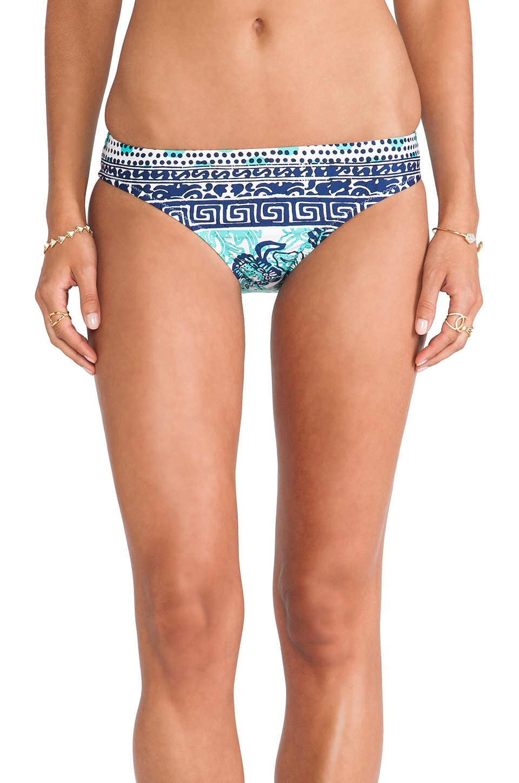 Nanette Lepore Batiki Print Charmer Bikini Bottom in Aqua
