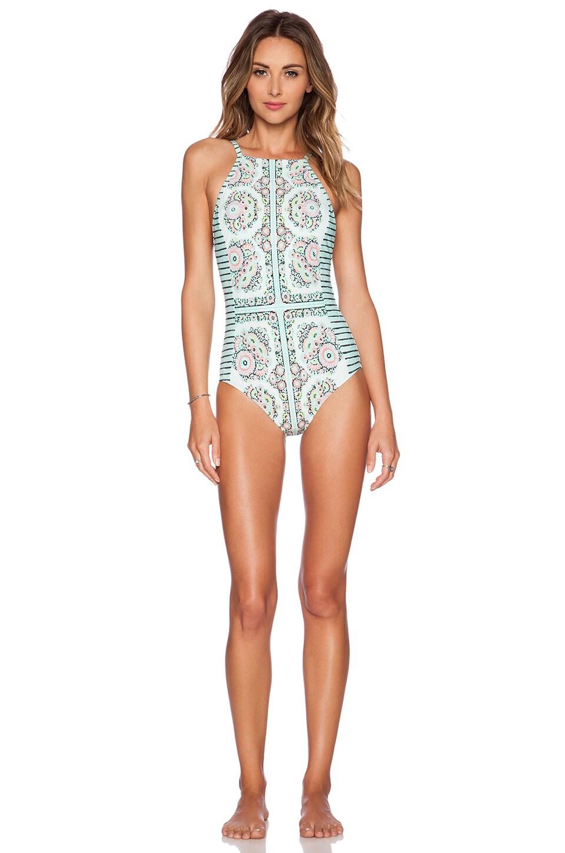 Nanette Lepore Montecito Seductress Swimsuit in Seafoam