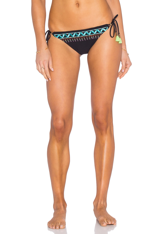 Mantra Embroidery Vamp Bikini Bottom by Nanette Lepore