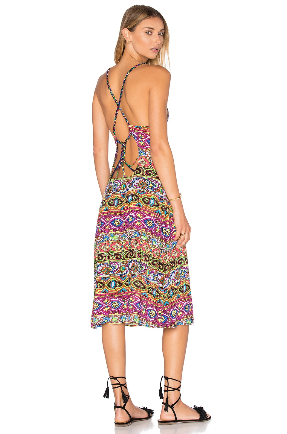 Nanette Lepore Carnaval Midi Dress in Multi