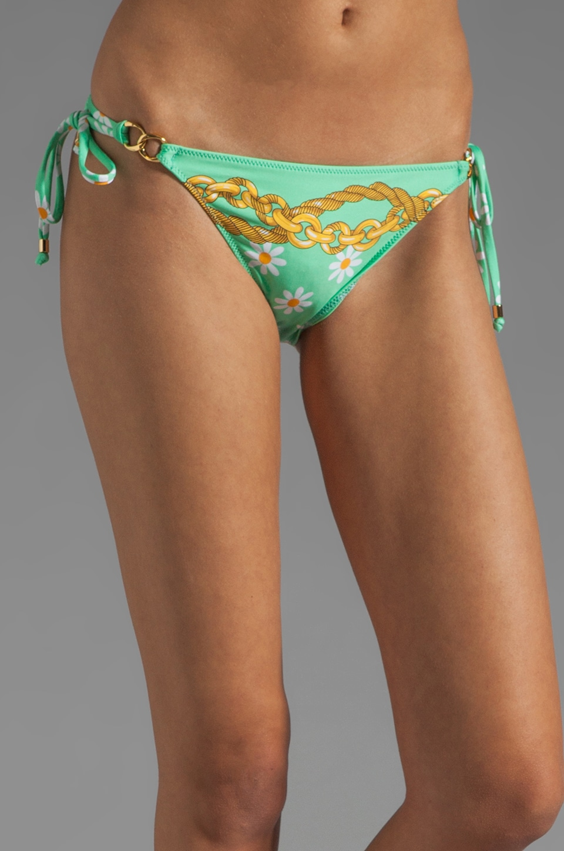 Nanette Lepore Dolce Daisies Vamp Bikini Bottom in Mint