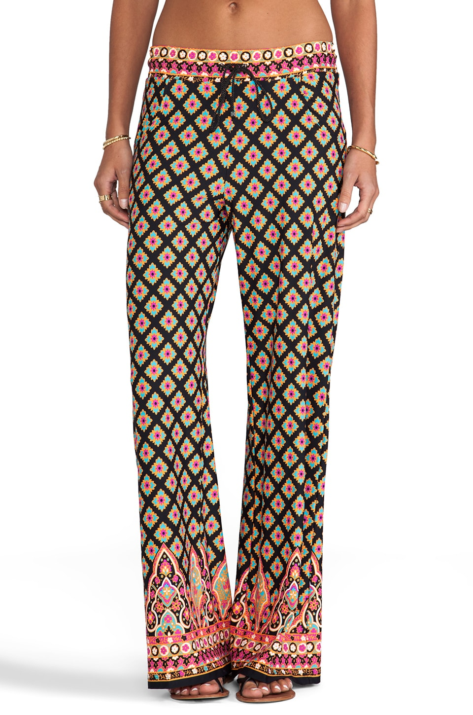 Nanette Lepore Moroccan Medallion Beach Pant in Black
