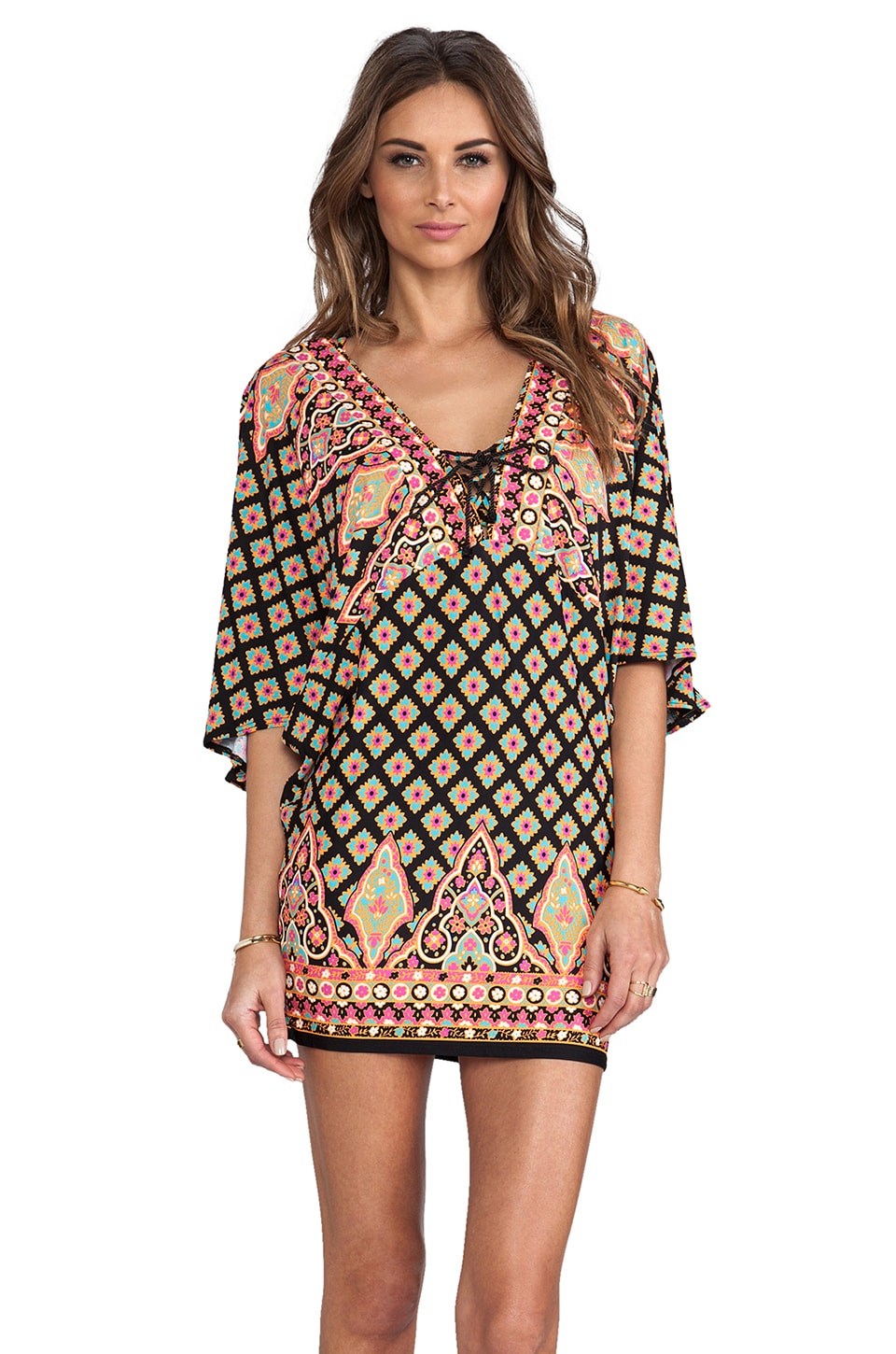 Nanette Lepore Moroccan Medallion Tunic in Black