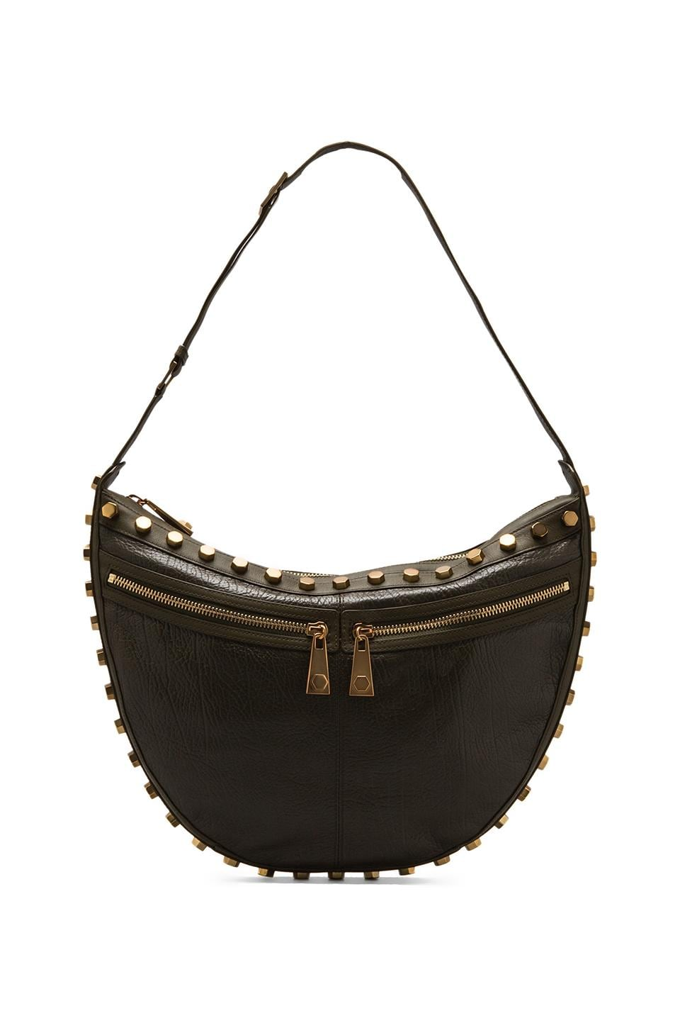 Nanette Lepore Over the Moon Bag in Olive/Gold