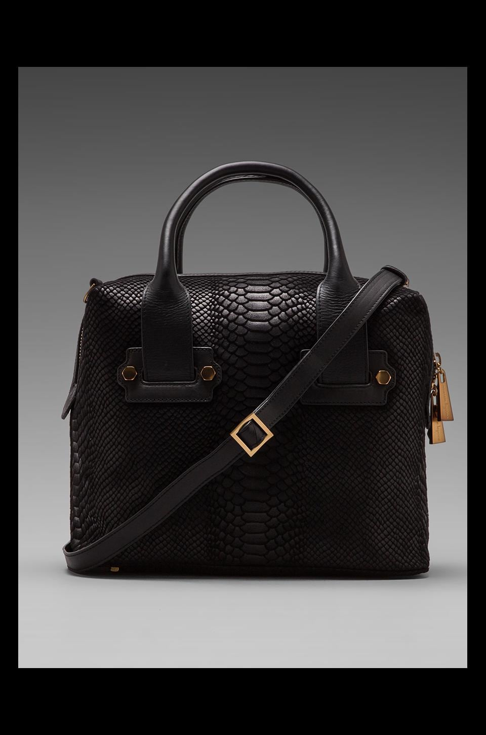 Nanette Lepore Seduction Satchel in Black/Gold
