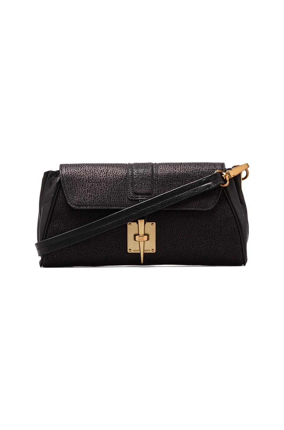 Nanette Lepore Man Hunter Clutch in Black/Gold