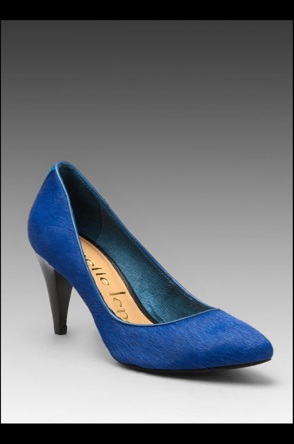 Nanette Lepore Play Me Pump in Dark Blue Calf Hair